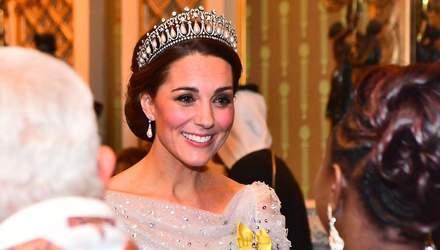 Кейт Міддлтон в тіарі принцеси Діани відвідала дипломатичний прийом у Букінгемському палаці