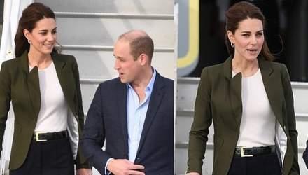 Герцогиня Кембриджська вразила вбранням, яке обрала для поїздки на Кіпр: яскраві фото