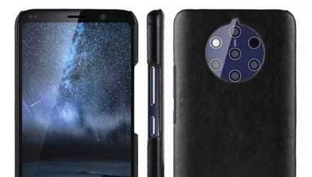 Смартфон Nokia 9 з п'ятьма камерами показали на свіжих знімках