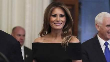 Меланія Трамп у розкішній сукні відзначила Хануку: ефектні фото
