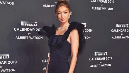 Модель Джіджі Хадід у розкішній сукні відвідала вечірку Pirelli