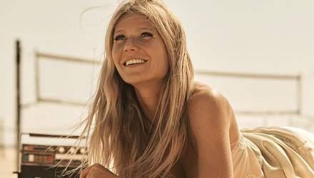 Гвінет Пелтроу приміряла звабливе вбрання у пляжній фотосесії: сексуальні знімки