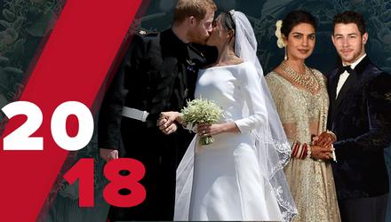 Самые роскошные свадьбы 2018: какие пары распрощались с холостяцкой жизнью
