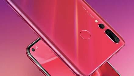 """Huawei nova 4: компания официально представила собственный смартфон с """"дыркой"""" в экране"""