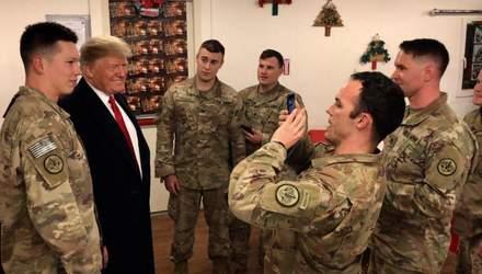 Дональд и Мелания Трамп посетили американских военных в Ираке
