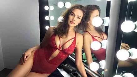 Ирина Шейк примерила мужское белье: сексуальное фото