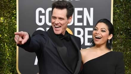 Золотий глобус 2019: Джим Керрі вперше вийшов на червону доріжку з коханою – фото