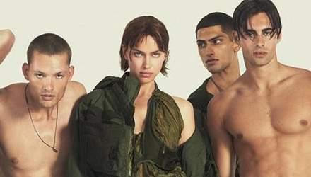 Оголені по-хуліганськи: Ірина Шейк в оточенні хлопців для реклами DSquared2