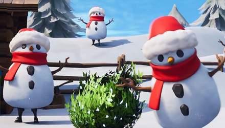 В игре Fortnite Battle Royale появился снеговик: что он умеет