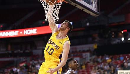 """""""Лейкерс"""" українця Михайлюка вкотре поступилися у матчі НБА: відео"""