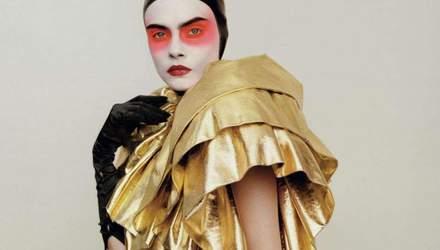 Яркий макияж и соблазнительные образы: Делевинь стала звездой журнала Love Magazine