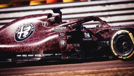 Кими Райкконен представил ливрею Alfa Romeo Racing для Формулы-1: фото