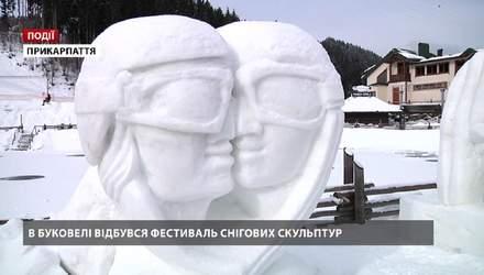"""В """"Буковеле"""" прошел фестиваль снежных скульптур"""