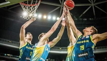 Сборная Украины по баскетболу упустила победу над Словенией в заключительном матче отбора на ЧМ