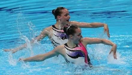Украинский дуэт красавиц-синхронисток завоевал золото на этапе Мировой серии