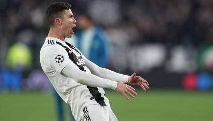 УЕФА вынес наказание Роналду за неприличный жест в матче Лиги чемпионов