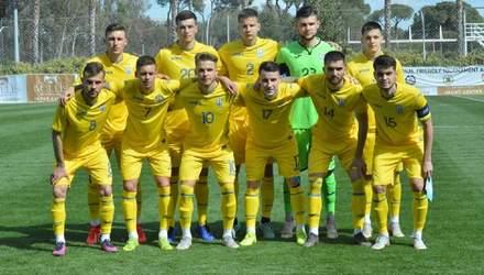 Молодежная сборная Украины сыграла вничью с Эстонией в дебютном матче Ротаня
