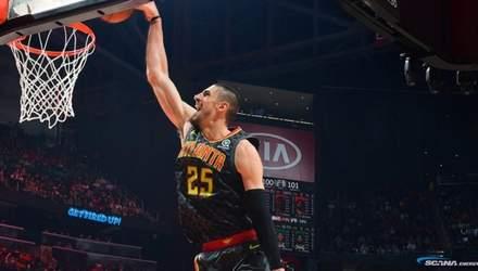 """Лень допоміг """"Атланті"""" вирвати перемогу у матчі НБА проти """"Юти"""": відео"""