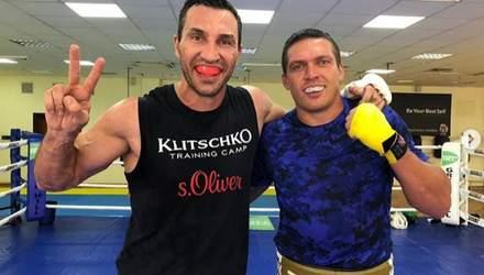Спасибо за этот опыт, чемпион: Кличко и Усик провели совместную тренировку (фото)