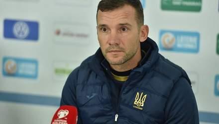 Шевченко розповів, хто вийде на матч з Люксембургом