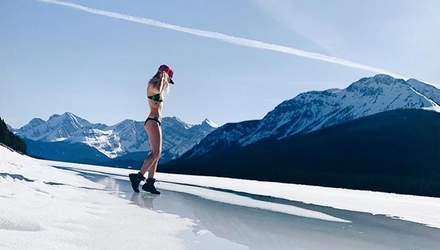 Украинская волейболистка выложила соблазнительные фото в бикини на фоне заснеженных гор