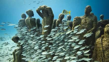Как выглядит Подводный музей в Мексике: захватывающие фото