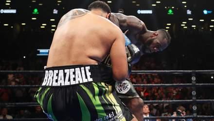 Уайлдер мощным ударом в голову нокаутировал Бризила в 1-м раунде: видео
