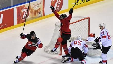 Топ-3 гола и сейвы четвертьфинала чемпионата мира по хоккею: видео