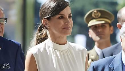 Королева Летиция совершила выход в образе от любимого бренда Меган Маркл: эффектные фото