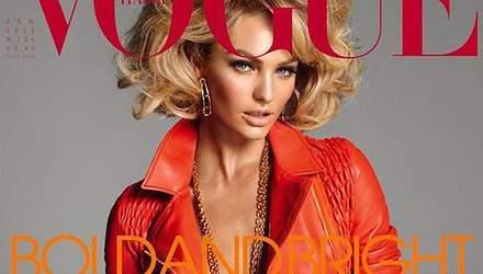 В кожанке на голое тело: Кэндис Свейнпол сексуально украсила обложку Vogue