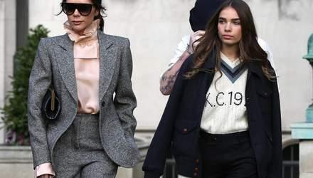 Несмотря на слухи о вражде: Виктория Бекхэм одела девушку сына Хану Кросс в свой бренд – фото