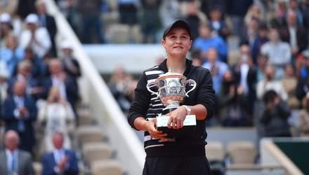 Австралийская теннисистка Эшли Барти впервые в карьере выиграла Ролан Гаррос