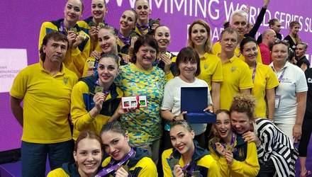 Сборная Украины по артистическому плаванию завоевала еще два золота в Суперфинале Мировой серии
