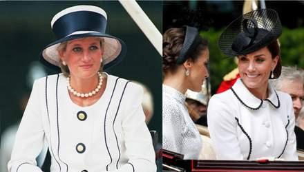 Кейт Миддлтон надела платье в стиле принцессы Дианы: фото