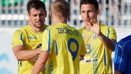 Сборная Украины по футболу в серии пенальти одержала первую победу на Европейских играх