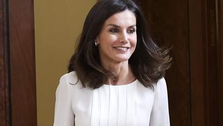 По-королевски элегантная: Летиция очаровала светлым образом на официальном приеме