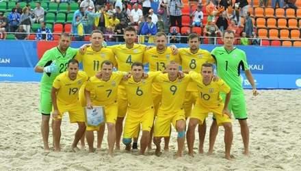 Сборная Украины по футболу обидно уступила в матче за третье место на Европейских играх