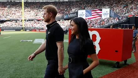 Меган Маркл побувала на бейсбольному матчі з принцом Гаррі: чарівні фото