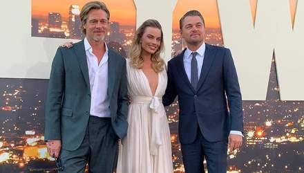Пітт, Ді Капріо і Тарантіно зачарували виходом на прем'єрі фільму в Голлівуді
