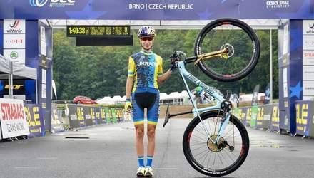 Украинка Беломоина стала серебряным призером чемпионата Европы по маунтинбайку