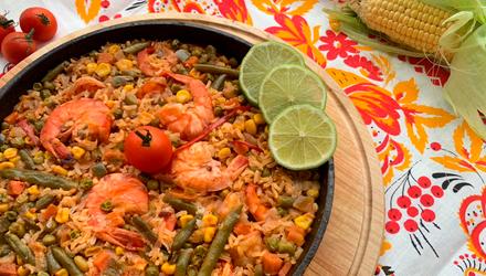 Рис з морепродуктами – покроковий рецепт