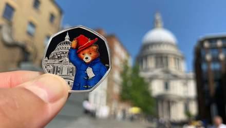 Монети з ведмедиком Паддінгтоном випустили у Великобританії: милі фото