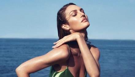 """""""Ангелы"""" над уровнем моря: Кэндис  Свейнпол позировала на скале в соблазнительных купальниках"""