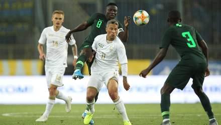 Сборная Украины в напряженной игре против Нигерии вырвала ничью за две минуты: видео