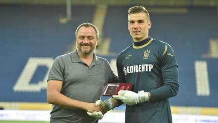 Вратарь Андрей Лунин получил орден перед матчем сборной Украины против Нигерии