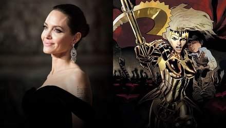 Анджелина Джоли стала блондинкой в новом фильме Marvel: первые фото со съемок