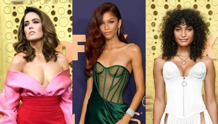 """""""Голі"""" сукні та пікантні декольте: які зірки відзначились на Еммі-2019"""