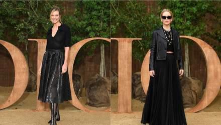 Как выглядеть стильно в черной одежде: потрясающие примеры знаменитостей с показа Dior