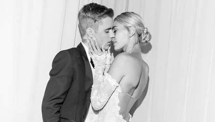 Розкішна фата, діамантова обручка і солодкі поцілунки: Гейлі Бібер показала нові фото з весілля
