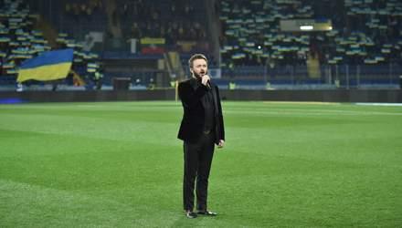 Як Дзідзьо виконав гімн України перед матчем збірної у Харкові: відео
